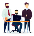 office worker and manager work at company vector image vector image