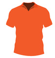 Orange t-shirt vector image