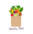 paper bag of healthy food vector image