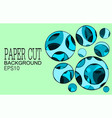 papper cut banner with 3d abstract background vector image