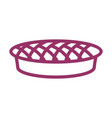 pie line icon sign for production of bread and vector image vector image