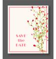 Retro beautiful flower design for wedding vector image vector image