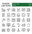 school line icon set education symbols collection vector image