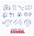 School objects sketch style vector image