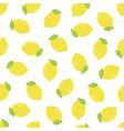 seamless pattern cartoon lemons on white vector image