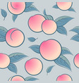 seamless pattern ripe ruddy peach or apricot leave vector image vector image