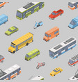 seamless pattern with motor vehicles of various vector image vector image