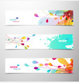 set abstract colorful headers vector image vector image