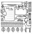 set bullet journal doodle christmas elements vector image