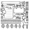 set of bullet journal doodle christmas elements vector image vector image