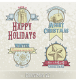 set of christmas emblems and designs vector image vector image