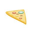 slice delicious pizza isolated icon vector image