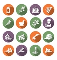 Spices icons flat vector image vector image