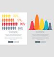 statistic presentation colorful web page design vector image vector image