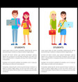 students poster text samples vector image