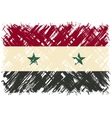 Syrian grunge flag vector image vector image