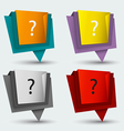 Tag banner origami modern style vector image