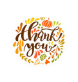 thanksgiving card design with elegant branch round vector image vector image