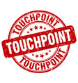touchpoint red grunge stamp vector image vector image