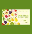 tropical fruits shop banner web design vector image