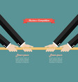 two businessmen pull the rope competition vector image vector image