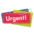 Urgent letter vector image vector image