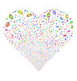 vision fireworks heart vector image vector image