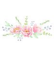 watercolor pink peony flower bouquet arrangement vector image vector image