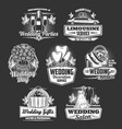 wedding company marriage organization service vector image vector image