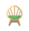 wooden armchair isolated icon in flat style vector image