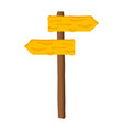wooden placard guide signal vector image