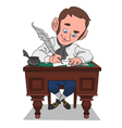 writer at work vector image vector image