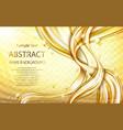 yellow golden flowing liquid abstract vector image vector image