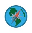 globe earth map compass navigation vector image