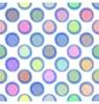 Seamless Ink abstract pattern with colour bubbles vector image