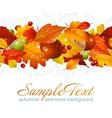 autumnal seamless horizontal background vector image