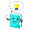 book cartoon pointing with his finger vector image