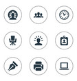 set of simple business icons vector image
