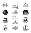 set of vintage tailor labels vector image