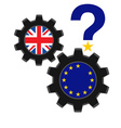 A question mark over the future of the EU vector image