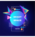 abstract geometric background colorful motiom 3d vector image