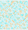 arthritis seamless pattern with thin line icons vector image vector image