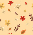 autumn fall cute dandelion flower and falling vector image