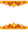 Autumn leaves decorated with gold bow vector image