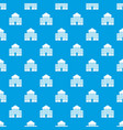 bank building pattern seamless blue vector image vector image