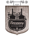 beer signboard with production line retro brewery vector image