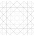 black dash square and diamond seamless on white vector image