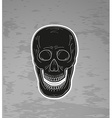 black skull with open mouth vector image vector image