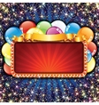 Bright Billboard with Balloons vector image vector image