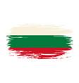 bulgarian flag brush grunge background vector image vector image